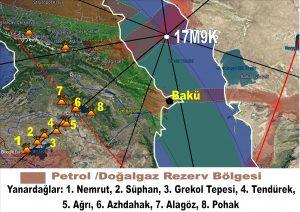 Doğu Anadolu volkanik dağlar dizisi ve ley hatları